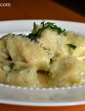 Herbed Gnocchi with Parmigiano Cream Sauce