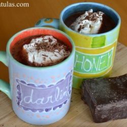 Hot Chocolate with Freshly Whipped Cream - Served in Personalized Mugs