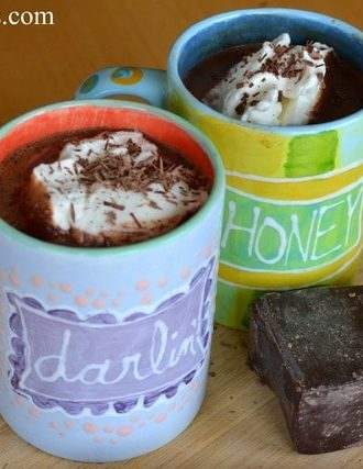 REAL Hot Chocolate with Homemade Whipped Cream