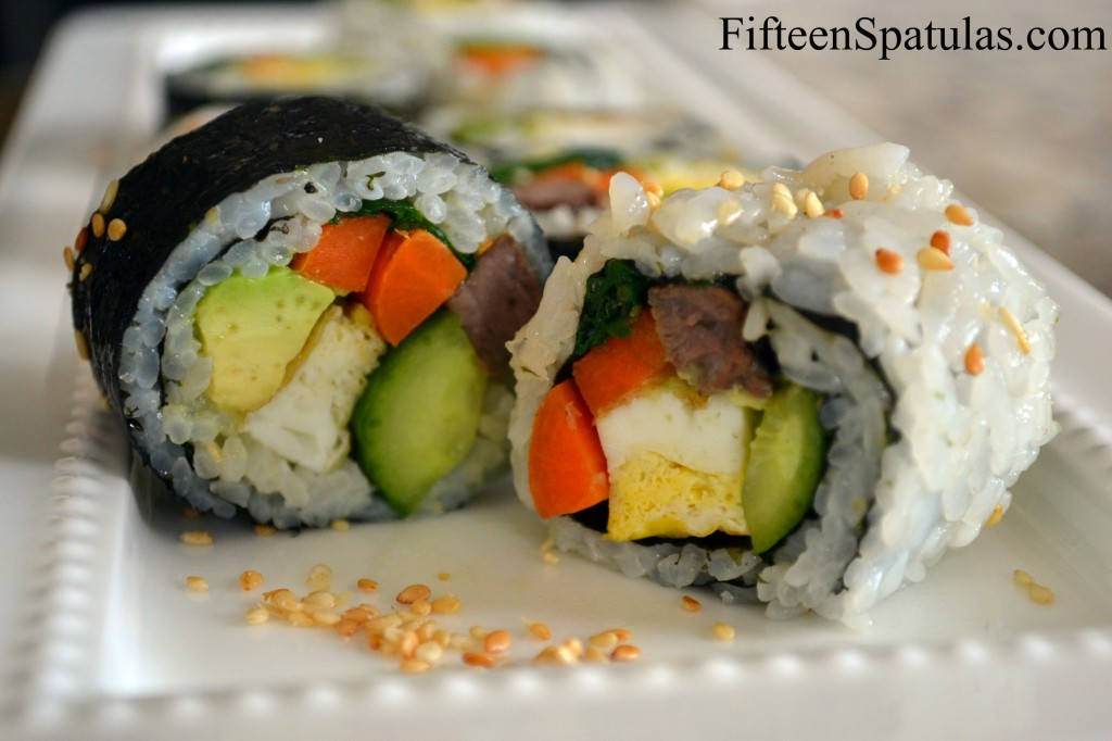 Kim Bap Rolls - Inside Out Style and Right Side Out