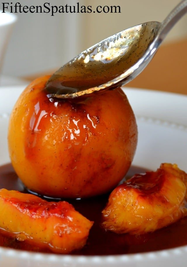 Poached Nectarines - Basted with Earl Gray Vanilla Glace
