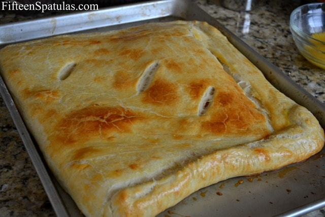 Puff Pastry Square on Sheet Pan