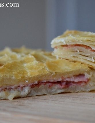 From Scratch Puff Pastry (with Ham and Cheese)