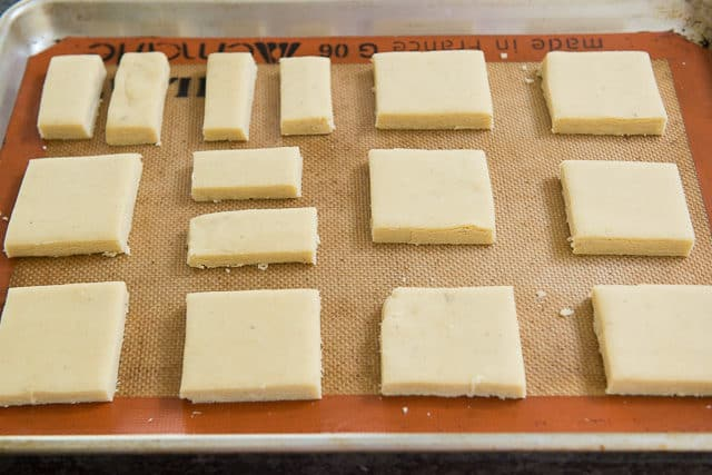 Lavender Shortbread Cookies on Silicone Mat