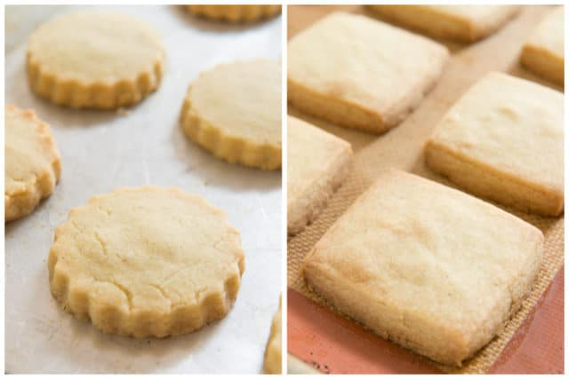 Baked Golden Brown Lavender Shortbread Cookies