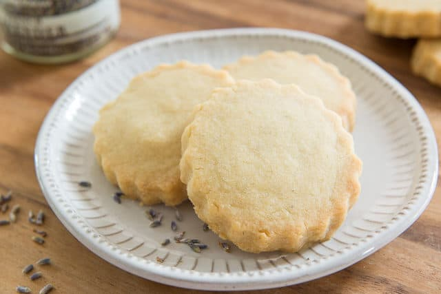 Lavender Shortbread Cookies - buttery and lightly sweet, with a floral flavor and aroma from dried lavender