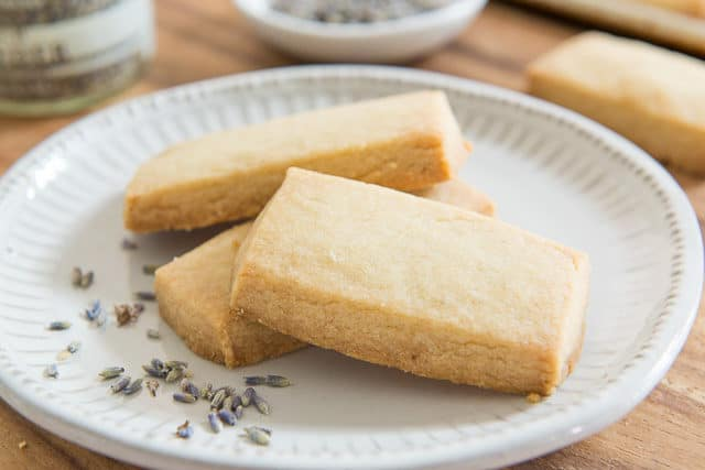 Homemade Shortbread Cookies with Lavender