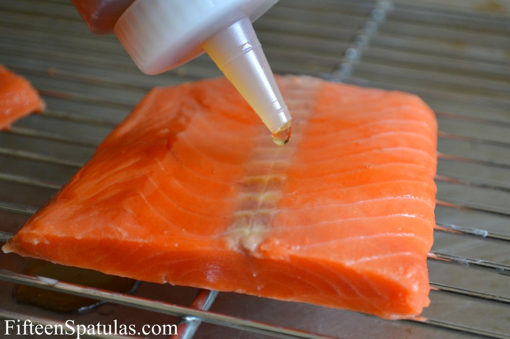 Adding Agave Nectar to Salmon Filet