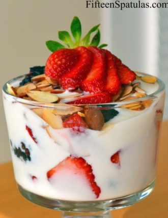 Lavender Honey Yogurt with Fresh Berries and Toasted Almonds