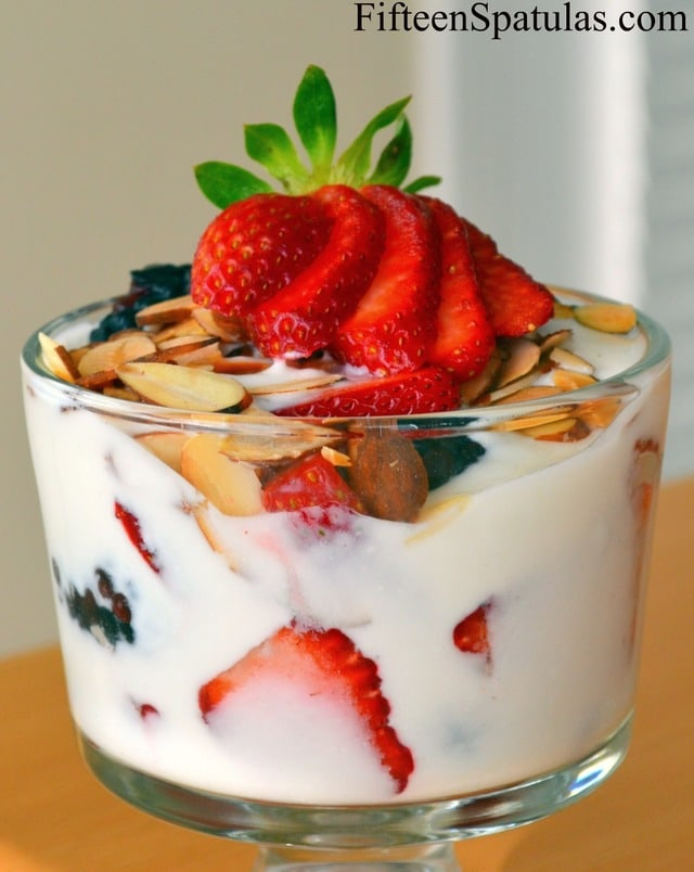 Lavender Honey Yogurt - With Berries and Almonds