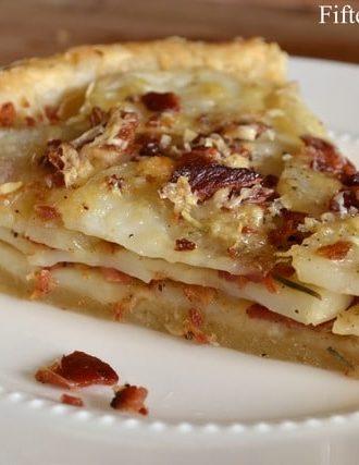Potato Tart with Bacon, Gruyere, and Rosemary