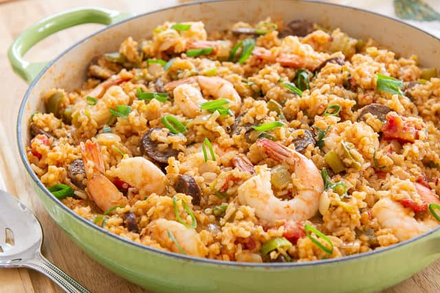 "Cajun Jambalaya made in the ""red style"" instead of brown"