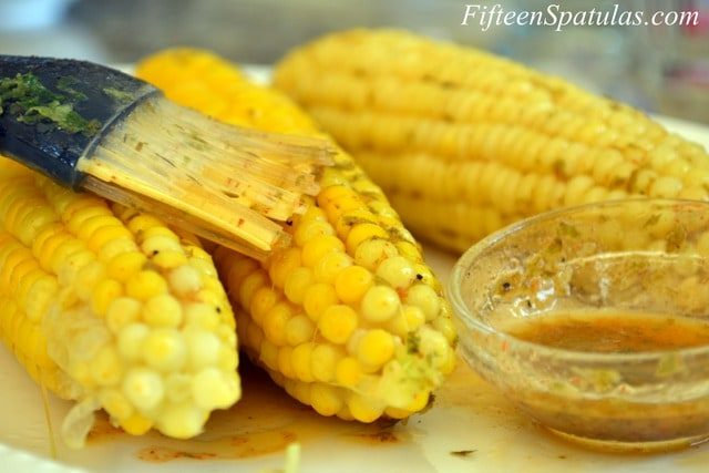 Corn on the Cob - Brushed with Chipotle Lime Butter