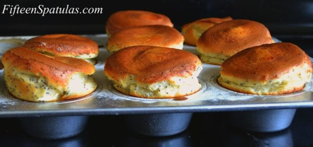 Popovers - with Poppy Seeds Baked in Muffin Tins