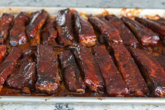 Baked Spare Ribs with BBQ Sauce