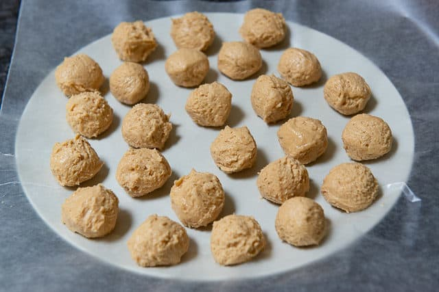 Peanut Butter Balls on a Piece of Wax paper