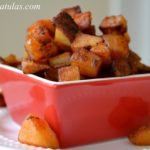 Paprika Potatoes - In a Red Square Dish