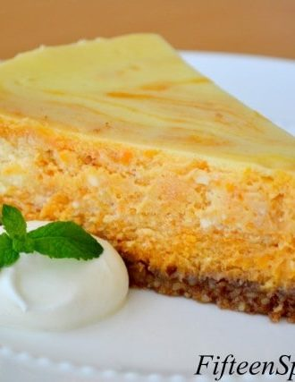 Sweet Potato Swirled Cheesecake with Pecan Crust