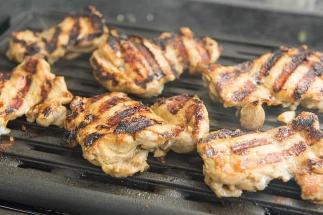 Grilled Chicken Satay on Nonstick Grill Plate