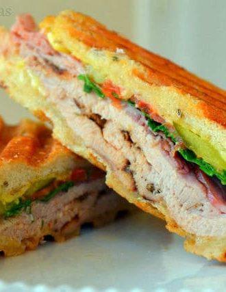 Rubbed Pork Tenderloin Cuban Sandwiches with Homemade Fennel Seed Bread