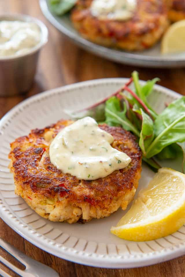 Crab Cakes - Much more cost friendly to make at home! #crab #crabcake #crabcakes #recipe #easy