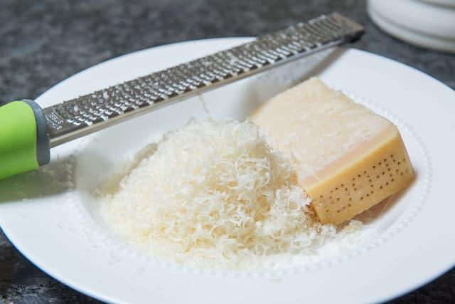 Freshly Grated Parmesan Cheese in a Bowl