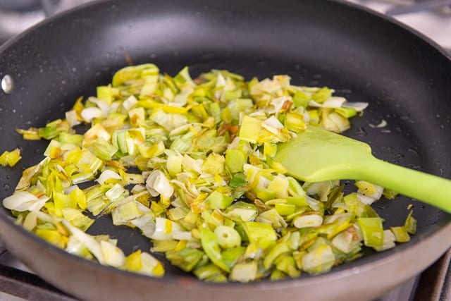 Sauteed Leeks - The White and Light Green Parts Only
