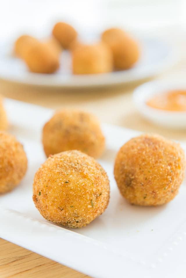 Potato Croquettes - with Chorizo and Queso Fresco #croquettes #potato #mashedpotatoes #appetizer