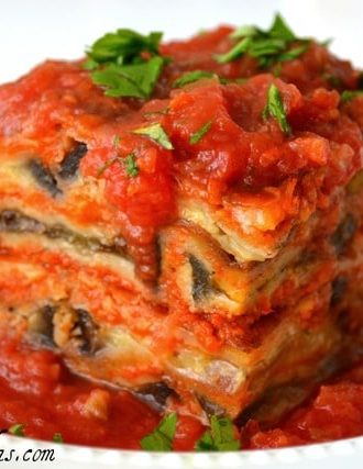 Eggplant Parmesan Stacks with Sundried Tomato Marinara