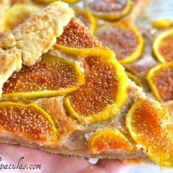 Fig Tart Slice with Almond Crust