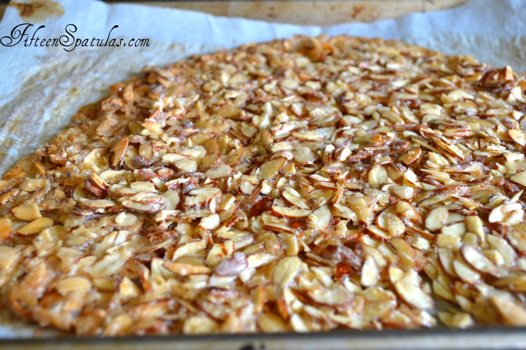 Crispy Baked Golden and Caramelized Almond Brittle for Ile Flottante Recipe