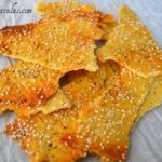 Buttermilk Crackers - Broken into Shards and Covered with Sesame Seeds