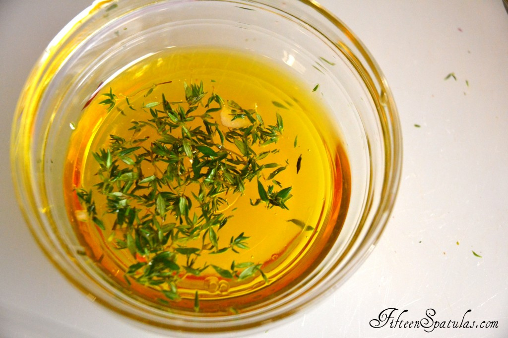 Honey and Thyme Mixture in Bowl