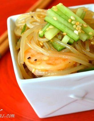 Shrimp and Cucumber Sesame Noodles