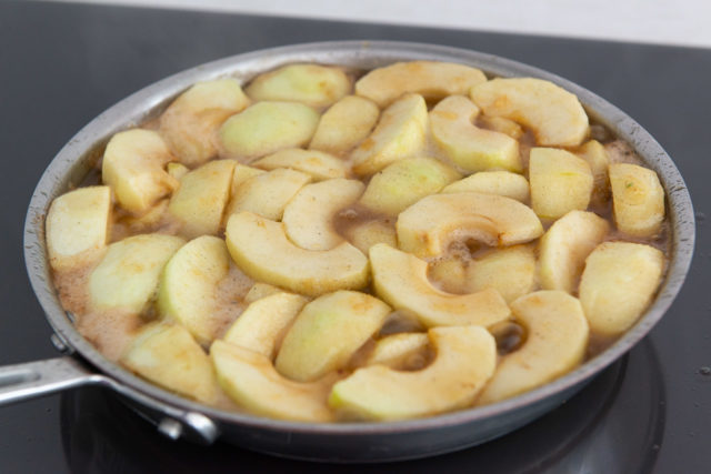 Cooked Down Apple Slices in Caramel Sauce