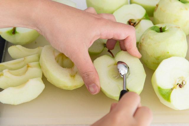 Coring Granny Smith Apples Using a Melon Baller