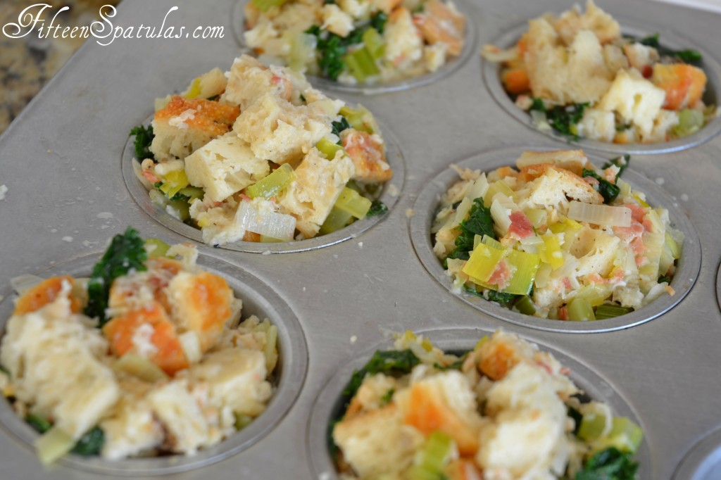 Muffin Tin Stuffing with Veggies and Bread