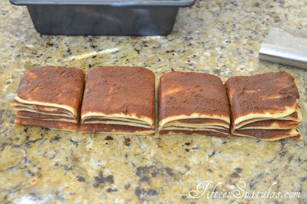 Four Stacks of Cinnamon Bread with Filling