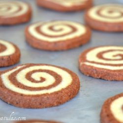 Swirl Cookies - On Sheet Pan with Chocolate and Vanilla Dough Alternating