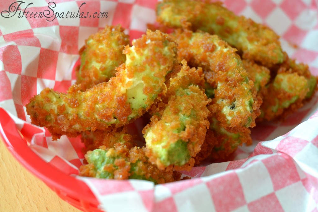 Deep Fried Avocado Panko Pieces in Basket