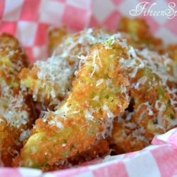 Deep Fried Avocado Slices with Cheese