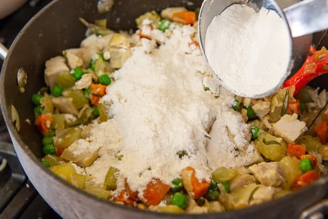 Chicken Pot Pie Filling - With Flour Added to Thicken