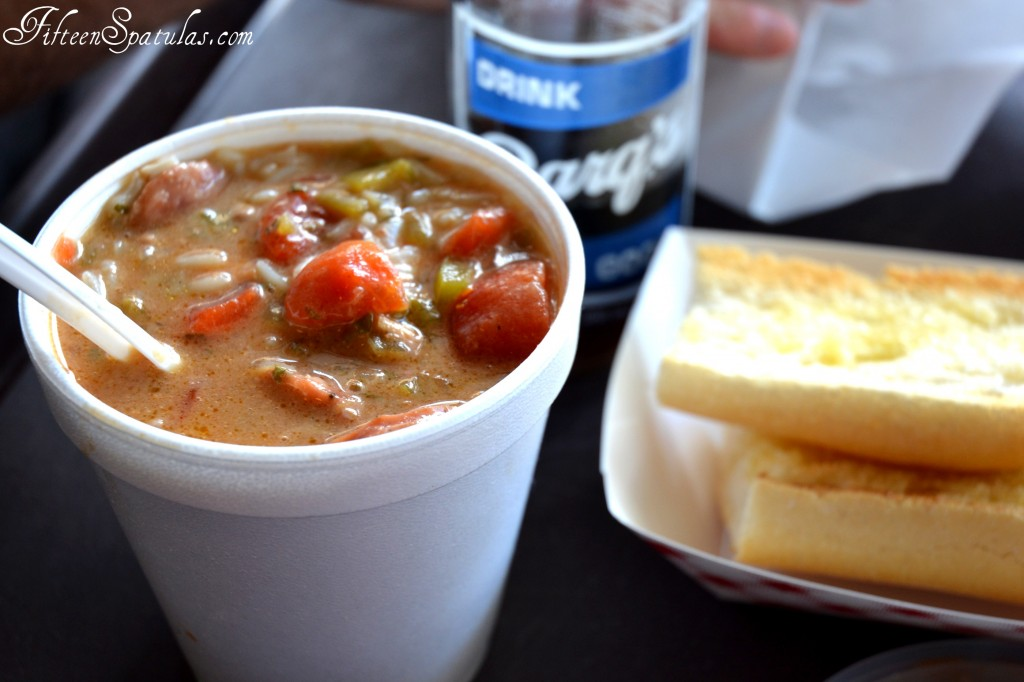 Gumbo with Bread and Soda in NOLA