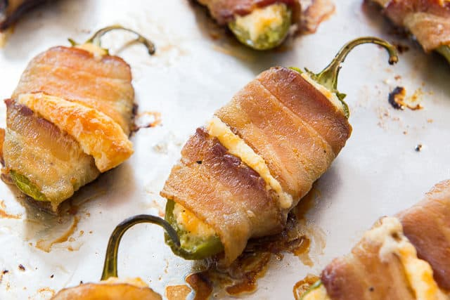 Stuffed Jalapeños Wrapped in Bacon on Sheet Pan
