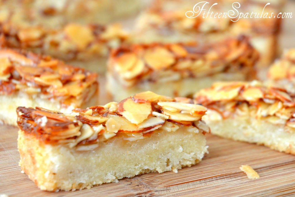 Shortbread Fingers with Sticky Honey Almond Topping