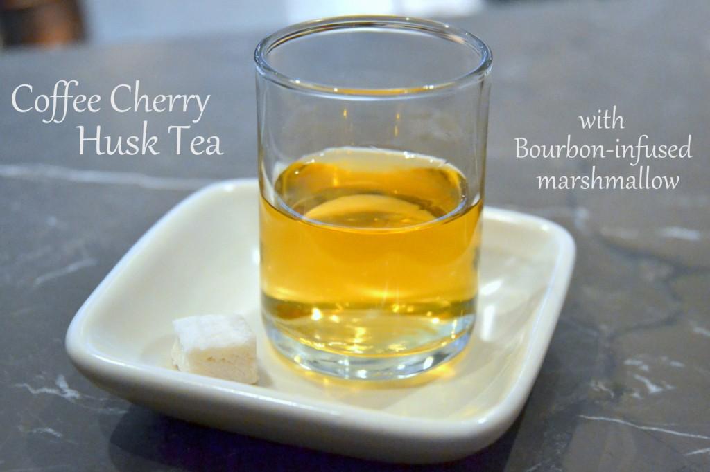 Cherry Husk Tea in a Glass