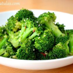 Asian Broccoli Recipe Served in White Bowl
