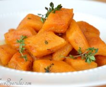 Sweet Potato Gnocchi - In a Bowl Garnished with Fresh Thyme