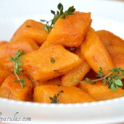 Sweet Potato Gnocchi with Thyme in Bowl