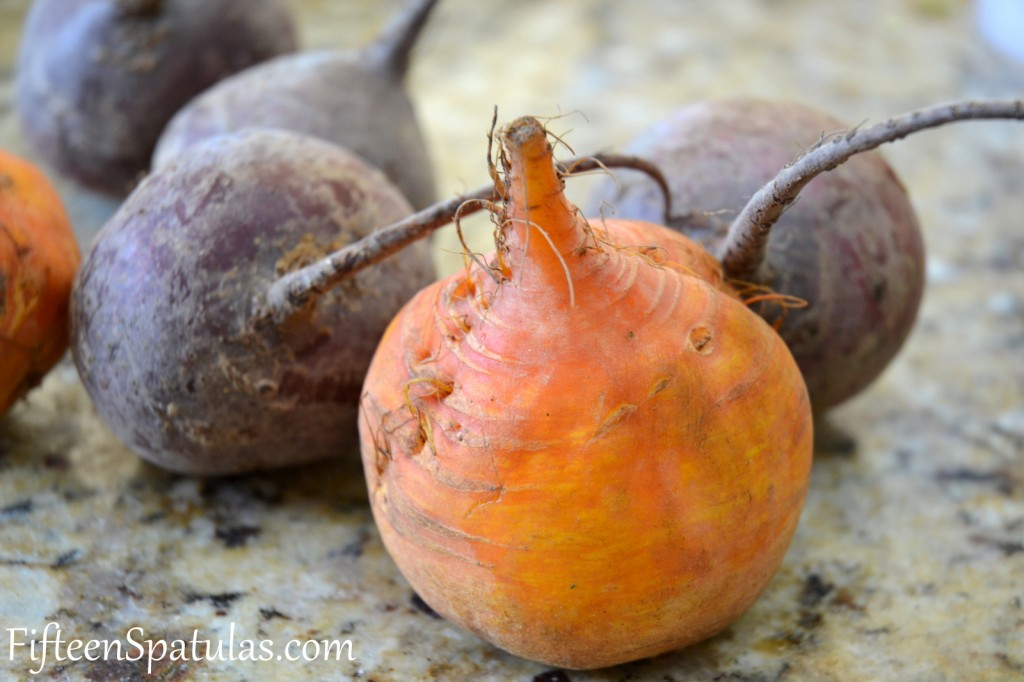 Whole Raw Unroasted Yellow and Red Beets